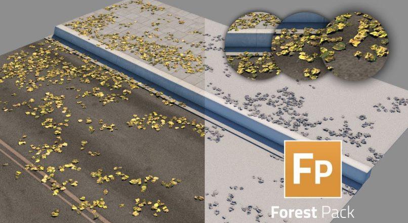 Hướng Dẫn Rải Lá Khô Trên Các Bề Mặt Chỉ Định Bằng Forest Pack Pro