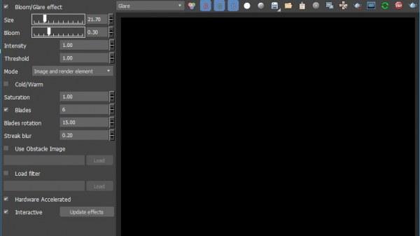 Vấn đề với Lens effect trên vray next update 1.2(4.10.03.00001)