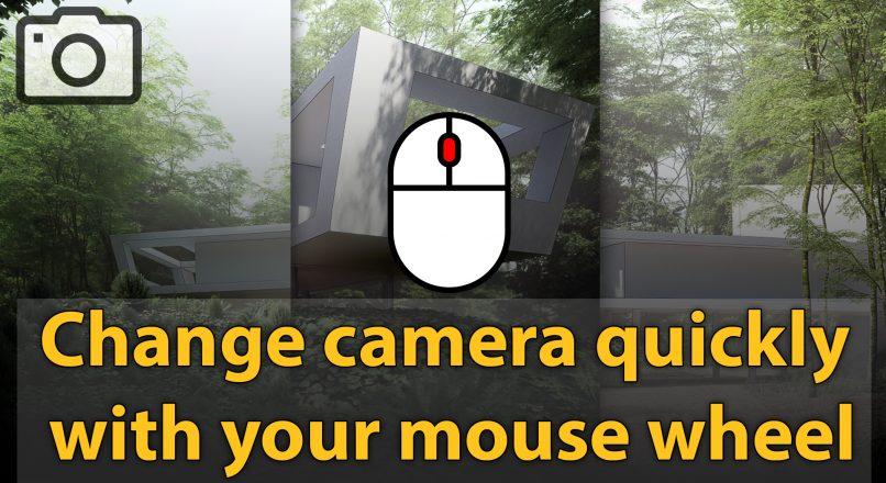 Hướng Dẫn Chọn Nhanh Camera Trong 3dsMax Chỉ Bằng Con Lăn Chuột