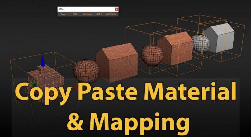 Hướng Dẫn Thao Tác Copy Paste Nhanh Vật Liệu Kèm UVW Map Trong 3dsMax