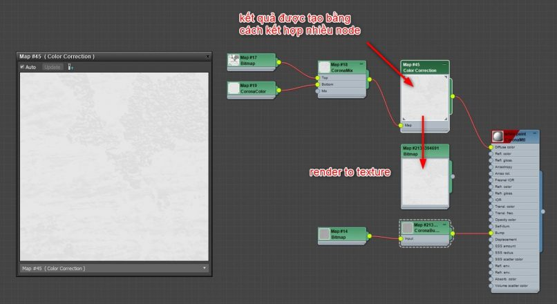 Hướng Dẫn Làm Giảm Thời Gian Render Bằng Cách Dùng Chế Độ Render Map Trong Bảng Vật Liệu Của 3dsMax