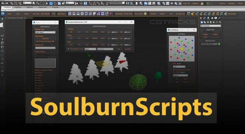 Hướng Dẫn Sử Dụng Soulburn Scripts Trong 3dsMax