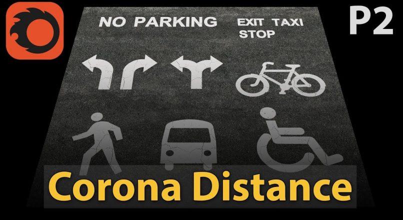 Hướng Dẫn Tạo Tín Hiệu Giao Thông Trên Đường Bằng Cách Sử Dụng Corona Distance Trong 3dsMax