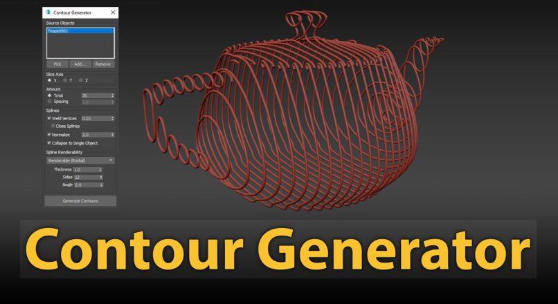 Hướng Dẫn Sử Dụng Contour Generator Để Tạo Các Mô Hình Lưới Bao Quanh Vật Thể Trong 3dsMax
