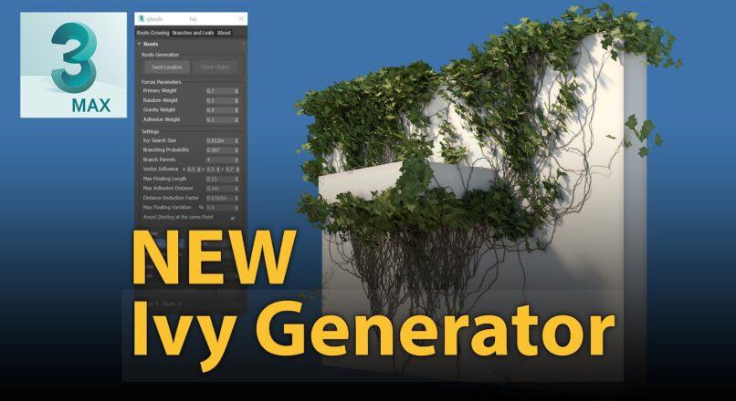 Phiên Bản Mới Nhất Của Ivy Generator Cho 3dsMax2018-2020 Đã Sẵn Sàng Để Tải Về