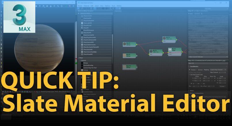 Thủ Thuật Nhỏ Với Node Vật Liệu Của Slate Material Editor Trong 3dsMax
