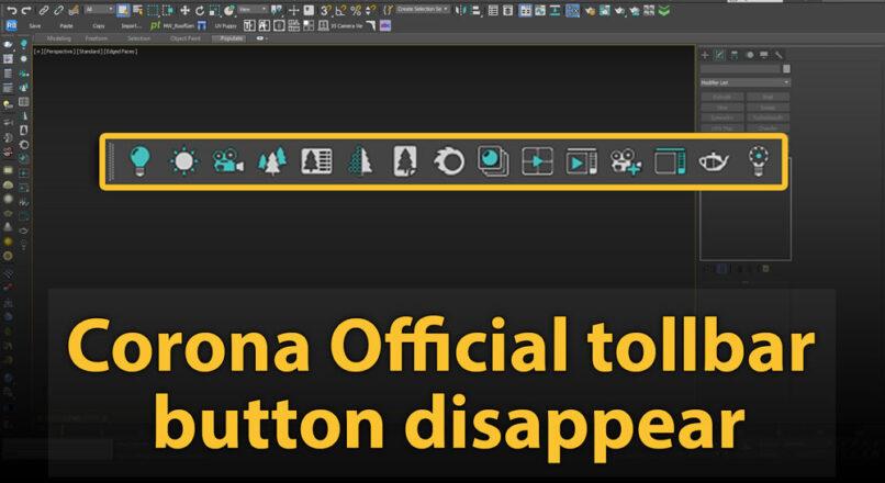 Hướng Dẫn Sửa Lỗi Không Hiển Thị Corona Official Toolbar Trong 3dsMax